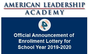 Official Announcement of Enrollment Lottery for School Year 2019-2020